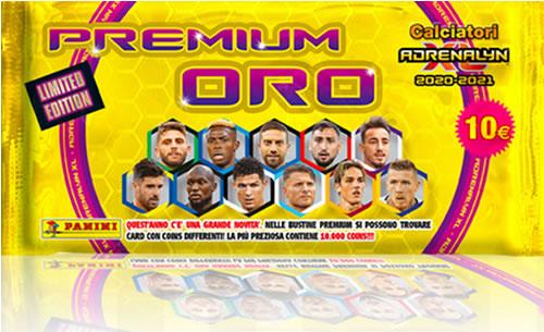 Calciatori Adrenalyn XL 2020-2021 bustine di cards Panini Premium