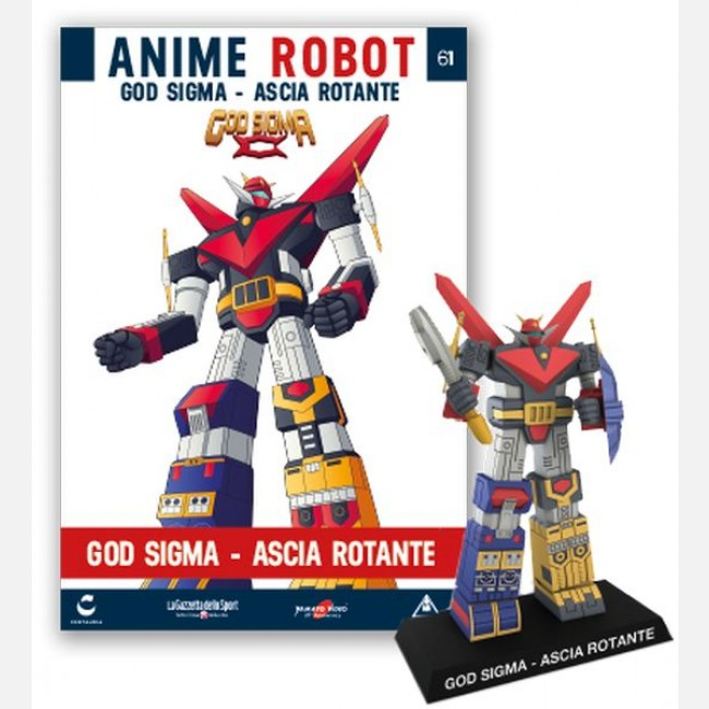 Collezione Miniature 3D giapponesi ANIME ROBOT Uscita n° 23 Nettuno God Sigma
