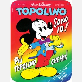 """Targa in metallo del """"Topolino sono io"""""""