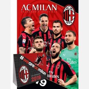 Calendario Milan 2019 - Verticale + scrivania