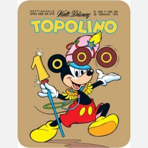 Targa in metallo del Topolino Nr. 1000