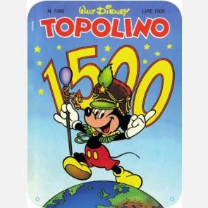 Targa in metallo del Topolino Nr. 1500