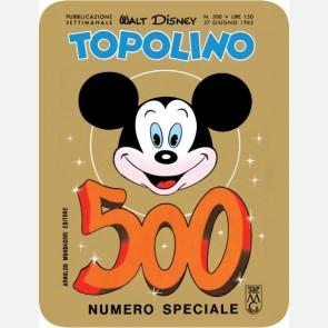 Targa in metallo del Topolino Nr. 500