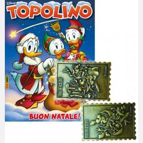 Topolino N° 3291 + 5° e 6° Francobollo in metallo