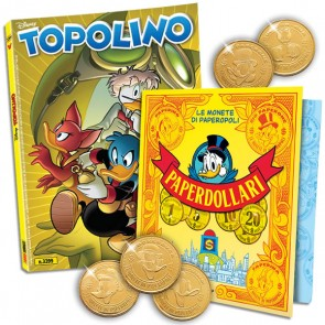 Topolino N° 3399 + Raccoglitore + Moneta Rockerduck