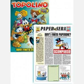 """Topolino N° 3319 + Papersera """"Dov'è finito Zio Paperone?..."""