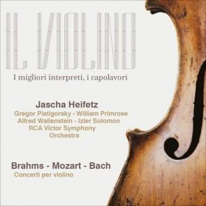 Brahms/Mozart/Bach, Jasha Heifetz - Concerti