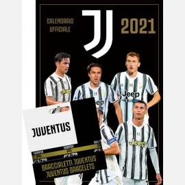 Calendario Juventus 2021 - Verticale + 3 Braccialetti