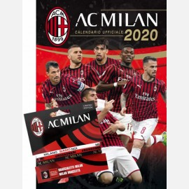 Calendario Milan 2020 - Verticale + 3 Braccialetti