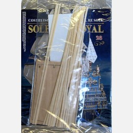 Tavoletta di legno con pezzi, listelli da 0,5x4x300 mm