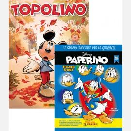 Topolino N° 3336 + Album Disney PAPERINO Sticker Story