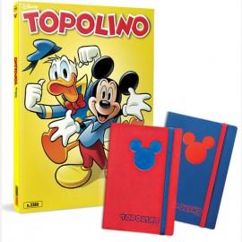 Topolino N° 3380 con Cover Metal Gold + Notebook (Blu/Rosso)