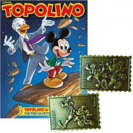 Topolino N° 3289 + 3° e 4° Francobollo in metallo