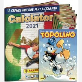Topolino N° 3396 (Cover Variant Esclusiva) + 7 bustine + Album Calciatori Panini 2021