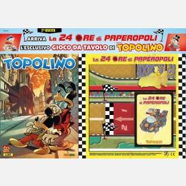 Topolino N° 3417 + Plancia di gioco + Auto di Archimede + 23 carte