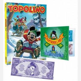 Topolino N° 3346 + Raccoglitore + Banconota 200 Paperdollari (Rockerduck)