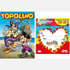 Topolino N° 3298 + Biglietto Pop-Up San Valentino