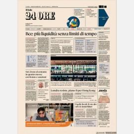 Ediz. di Venerdì 13 Settembre + Omaggio Rapporto Sole24h Centro