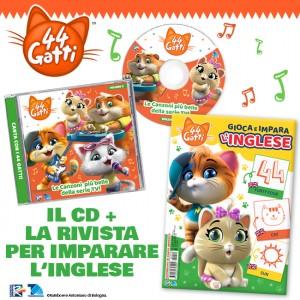 Il nuovo CD di 44 Gatti + La rivista per imparare l'inglese!