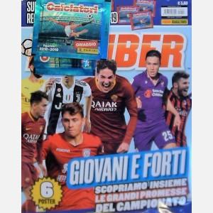 Febbraio 2019 + 6 poster + 3 bustine calciatori 2018-2019
