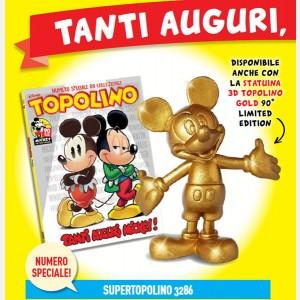 Topolino N° 3286 + Statuina 3D Topolino Gold 90° Limited Edition