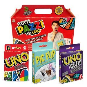 Tutti pazzi per UNO! (2 giochi di carte + 2 magazine)
