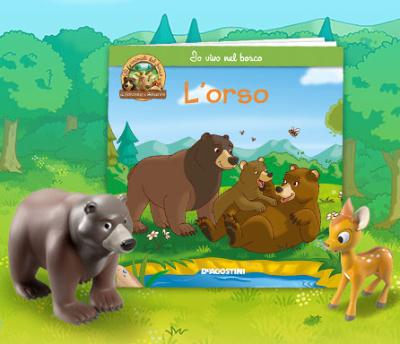 Simpatici animali cervi orsi bunny e fox illustrazione