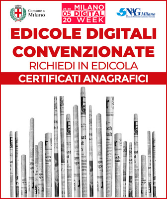 Digital Week Milano - Certificati anagrafici in edicola