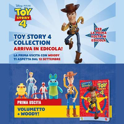 Toy Story 4 Collection arriva in edicola, scopri tutte le 9
